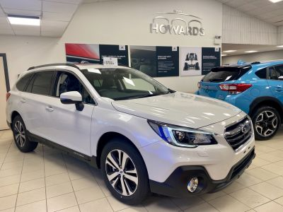 Subaru Outback 2.5i SE Premium 4WD Automatic Estate Petrol Crystal White Pearl-Or Any Other at Howards Subaru Carmarthen